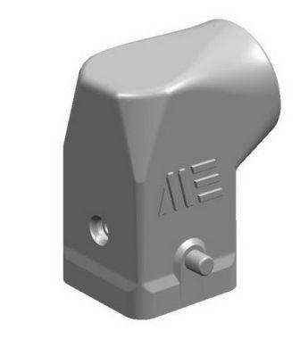 4x10A (3P+E) - Wtyczka do wkładu męskiego - HOOD FOR MALE INSERT (ANGLED)  ALUMINIUM - METE
