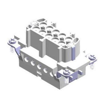 10X16A (10P+E) Wkład żeński złącza elektrycznego  FEMALE INSERT ,  , 10X16A - METE