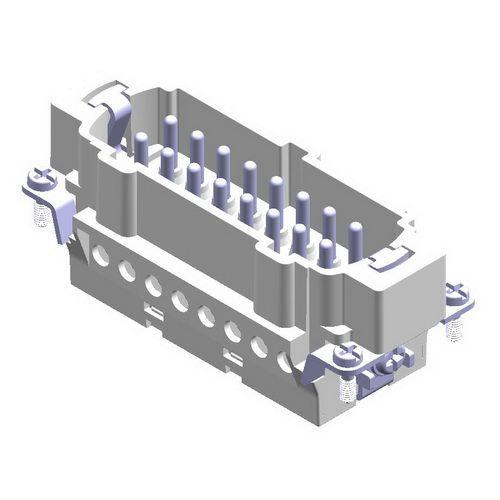 16X16A (16P+E) - Wkład męski złącza elektrycznego - MALE INSERT (1 - 16) ,  , 16X16A - METE