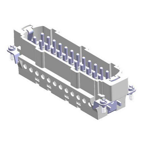 24X16A (24P+E) - Wkład męski złącza elektrycznego - MALE INSERT (1 - 24) - METE