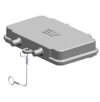 10X16A (10P+E) Pokrywa złącza elektrycznego z uszczelką  COVER FOR HOUSING ,  , 10X16A - METE