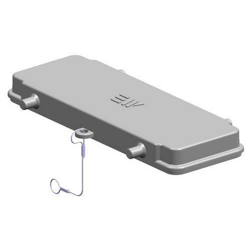 24X16A (24P+E) Pokrywa złącza elektrycznego z uszczelką  COVER FOR HOUSING - METE
