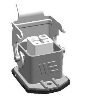 4x10A (3P+E) - Złącze elektryczne  - HOUSING with FEMALE INSERT. IP 65 - METE