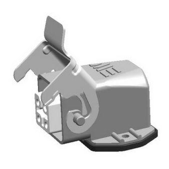 4x10A (3P+E) - Złącze elektryczne kątowe- HOUSING with FEMALE INSERT (angled) - METE
