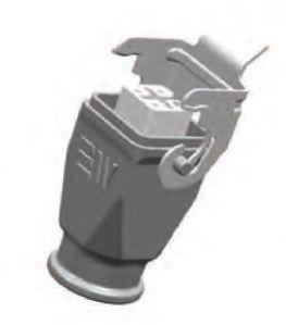 4x10A (3P+E) - Złącze elektryczne - HOOD with FEMALE INSERT - METE