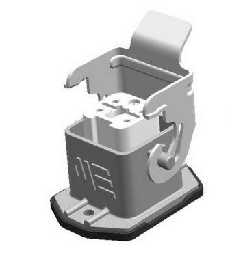 5x10A (4P+E) - Złącze elektryczne IP65 -HOUSING WITH FEMALE INSERT ,4X10A - METE