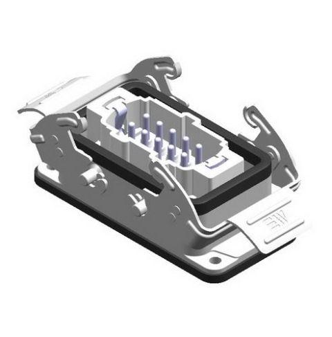 10X16A (10P+E) - Złącze elektryczne  -  HOUSING WITH MALE INSERT (Bulkhead Mounting) , IP65 , 10X16A