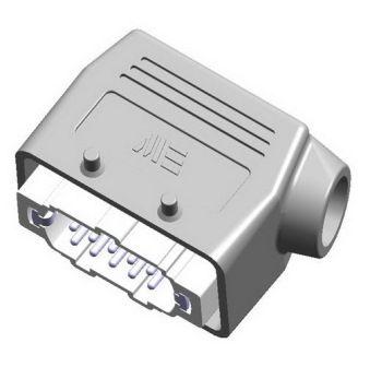 10X16A (10P+E) - Złącze elektryczne  - HOOD WITH MALE INSERT , IP65 , 10X16A - METE