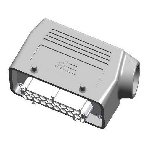16X16A (16P+E) - Złącze elektryczne  - HOOD WITH FEMALE INSERT , IP65 , 16X16A - METE