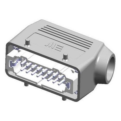 16X16A (16P+E) - Złącze elektryczne  - HOOD WITH MALE INSERT , IP65 , 16X16A - METE