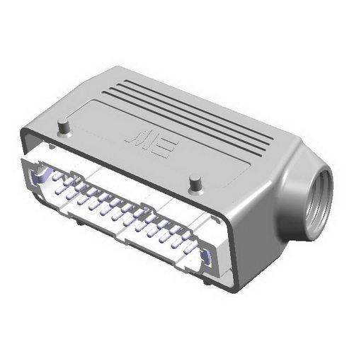 24X16A (24P+E) - Złącze elektryczne  - HOOD WITH MALE INSERT , IP65 - METE