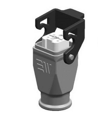 5x10A (4P+E) - Złącze elektryczne IP65 - HOOD WITH FEMALE INSERT , 4X10A - METE