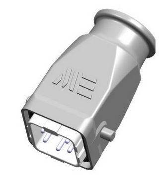 5x10A (4P+E) - Złącze elektryczne IP65 - HOOD WITH MALE INSERT ,  4X10A - METE