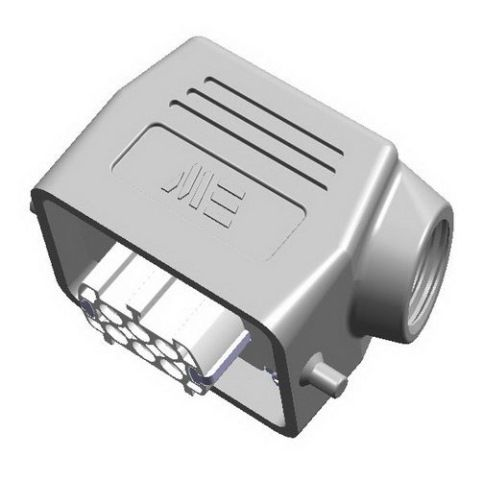 6x16A (6P+E)  - Złącze elektryczne IP65 -  HOOD WITH FEMALE INSERT , IP65 , 6X16A - METE