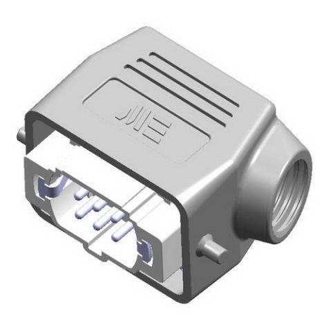 6x16A (6P+E)  - Złącze elektryczne IP65 -  HOOD WITH MALE INSERT , IP65 , 6X16A - METE
