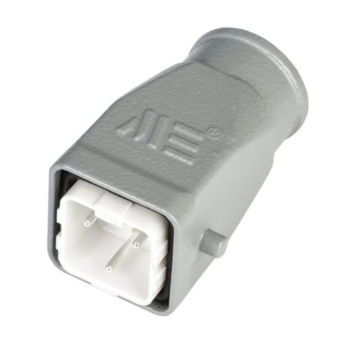 3x10A (2P+E) - Wielopinowe Złącze elektryczne  - HOOD with MALE INSERT IP65 - METE