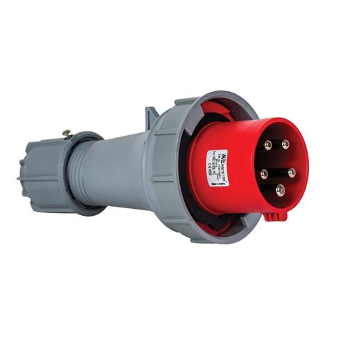 5x63A Złącze elektryczne, Wtyczka męska czerwona. 5P (3P+N+PE) 380/415V, IP67. - METE