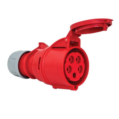 5x32A Złącze elektryczne, Wtyczka żeńska czerwona. 5P (3P+N+PE) 380/415V, IP44 - METE