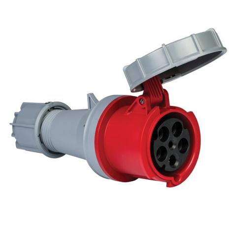 5x63A Złącze elektryczne, Wtyczka żeńska czerwona. 5P (3P+N+PE) 380/415V, IP67. - METE