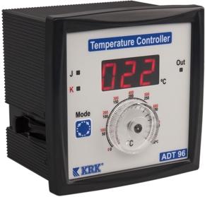 ADT-96 Miernik temperatury, analogowy z wejściem termoparowym J,K. Wyjście przekaźnikowe. (-99 ...90