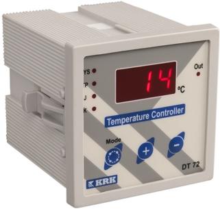 DT-72 Miernik temperatury, cyfrowy z wejściem termoparowym J,K. Wyjście przekaźnikowe. (-99 ...999C)