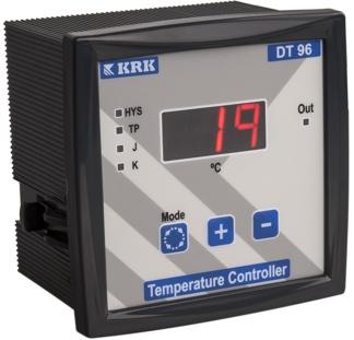 DT-96 Miernik temperatury, cyfrowy z wejściem termoparowym J,K. Wyjście przekaźnikowe. (-99 ...999C)