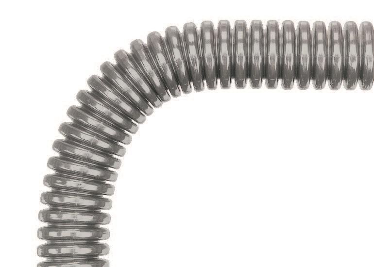 EWX-M32 /P29 Osłona kablowa szara. Wysokie karbowanie, (8,4/11,4) - Murrplastik
