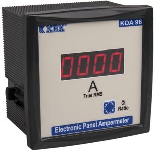 KDA 96 Amperomierz cyfrowy 1-fazowy 0-9999/5A (AC+DC) TrueRMS - KARACA