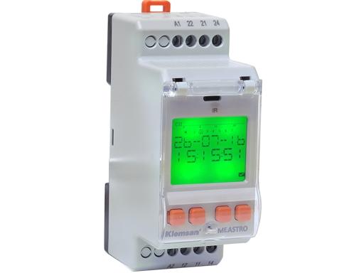 MEASTRO 120 - Elektroniczny tygodniowy programator czasowy, dwuprzekaźnikowy. 16A/250VAC. Zegar ster