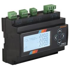 POWYS 3121 Analizator parametrów sieci 3-fazowej na szynę, 2 wyjścia przekaźnikowe, RS485, 2 cyfrowe