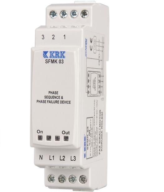 SFMK 03 (3-fazowy) Przekaźnik kolejności, asymetrii (40%) i zaniku faz napięcia sieci - KARACA