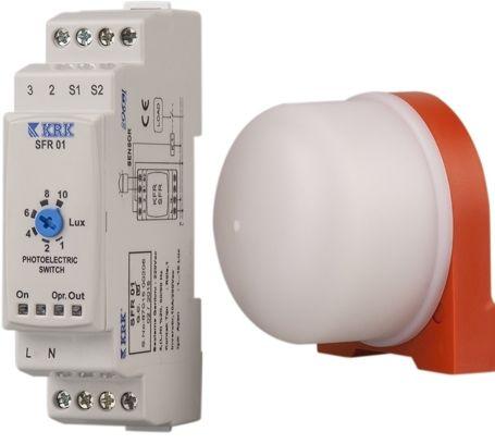 SFR 01 Wyłącznik zmierzchowy z sondą LDR 230 AC - KARACA