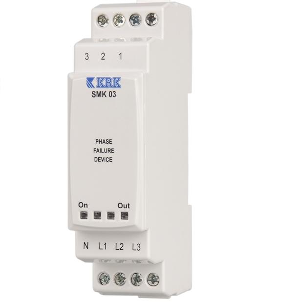 SMK 03 (3-fazowy) Przekaźnik zaniku fazy i asymetrii (40%) napięcia sieci - KARACA