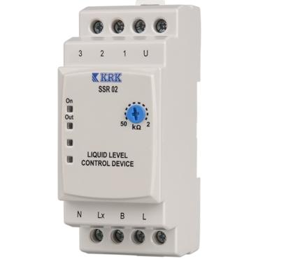 SSR 02 Przekaźnik kontroli poziomu cieczy . Regulowana czułość 2-50 kOhm - KARACA