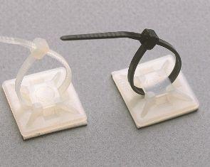 YK 1 Uchwyt na kabel , samoprzylepny - biały - Klemsan